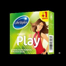 Латексні презервативи PLAY, LifeStyles 3+1 шт