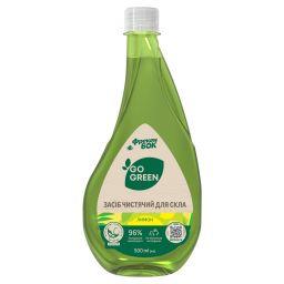 """ФБ Засіб чистячий для скла """"Лимон"""" GO GREEN 0,5л, змінна пляшка (12 шт/ящ)"""