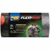 Фрекен БОК Пакеты для мусора с затяжкой Flexy DUO 70л/10шт, графитово-черные