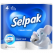 Туалетная бумага SELPAK белая 4шт.