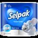 Туалетная бумага SELPAK белая 8шт.