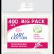 Палочки ватные в полиэтиленовом пакете Lady Cotton 400 шт