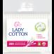 Палички ватні в поліетиленовому пакеті Lady Cotton 200шт